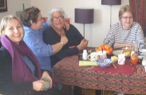 Tanja, Charlotte, Roxanna i Vivian